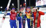 Ingvild Flugstad Oestberg, Astrid Uhrenholdt Jacobsen, Ragnhild Haga and Marit Bjoergen